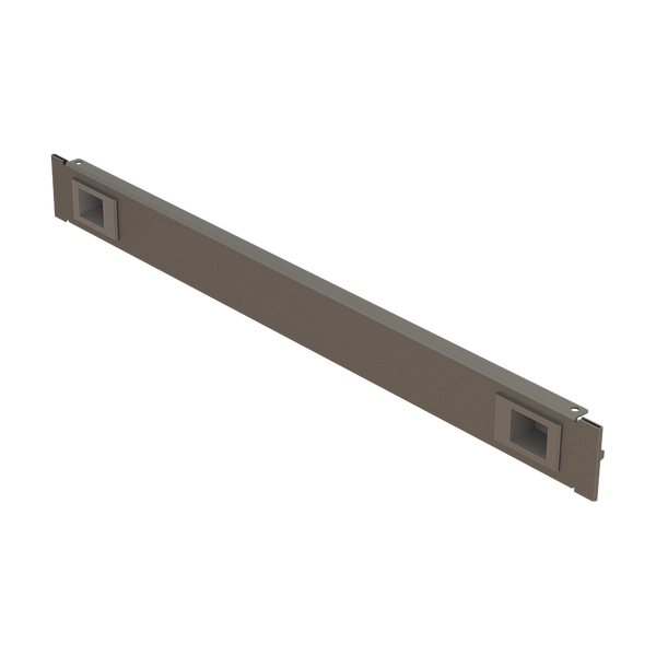 """- 19"""" 1U Blanking Panel Tool-less Latch Snap-in 