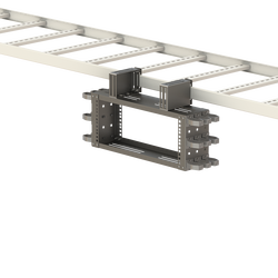 "- 19"" 4U Overhead Mounting Rack Frame | Including Side Organizers (1)"
