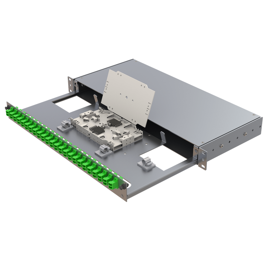 Samm Teknoloji - Alüminyum 1U Patch Panel | 24 LC Duplex (1)