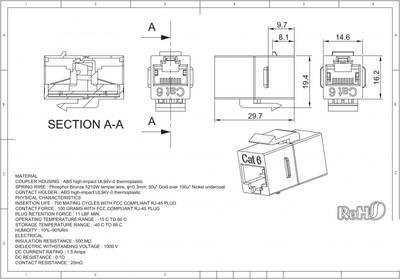 - CAT6 UTP Inline Coupler 180° (1)
