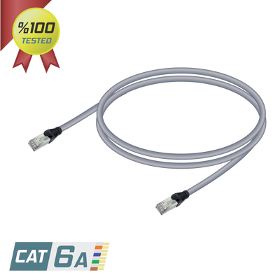 Samm Teknoloji - CAT6A S/FTP Patch Cord | LSZH | Gray