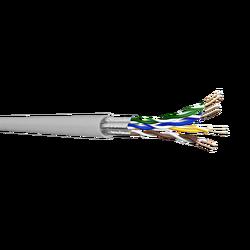 Samm Teknoloji - CAT6A U/FTP Bakır Ağ Kablosu 23AWG | LSZH | Gri | 500 metre