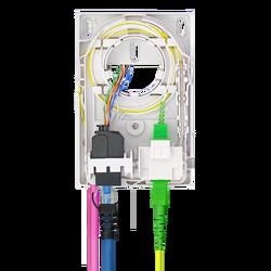 Samm Teknoloji - Dahili Sonlandırma Kutusu | 2 Patch | 2 Fiber/RJ45 | Dikey (1)