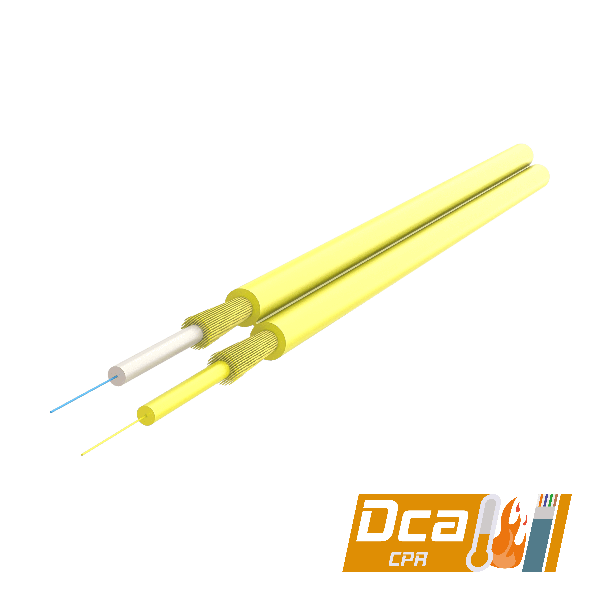 Samm Teknoloji - Duplex Fig-8 Fiber Optic Cable 2.0x4.1mm   I-V(ZN)H 1x2   CPR: Dca   1000 meters