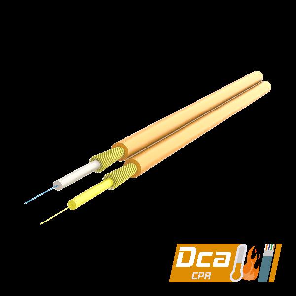 Samm Teknoloji - Duplex Fig-8 Fiber Optic Cable 2.0x4.1mm   I-V(ZN)H 1x2   CPR: Dca   1000 meters (1)