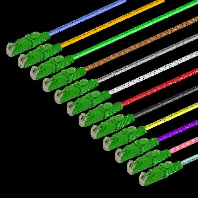 Samm Teknoloji - LSH/APC 12 Fiber Pigtail | Single Mode G657.A2 | 0.9mm (1)