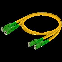 Samm Teknoloji - E2000/APC-E2000/APC | Single Mode G657.A2 Duplex Patch Cord | 2.0x4.1mm