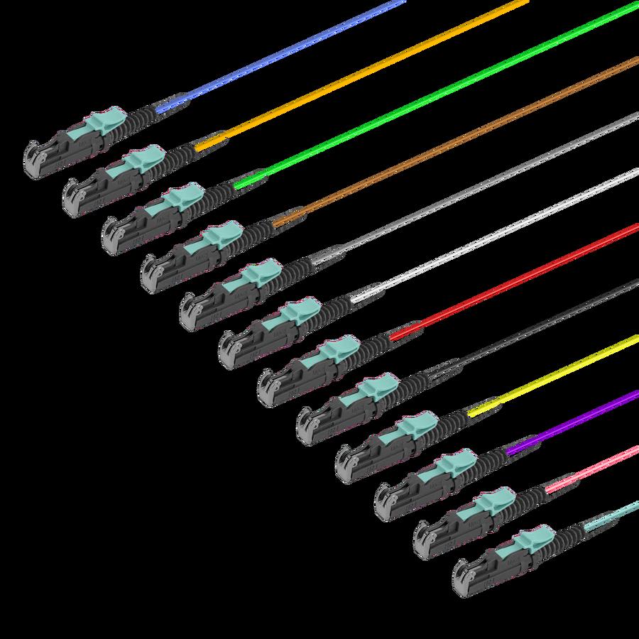Samm Teknoloji - LSH/UPC 12 Fiber Pigtail | Multi Mode G651.OM3 | 0.9mm (1)