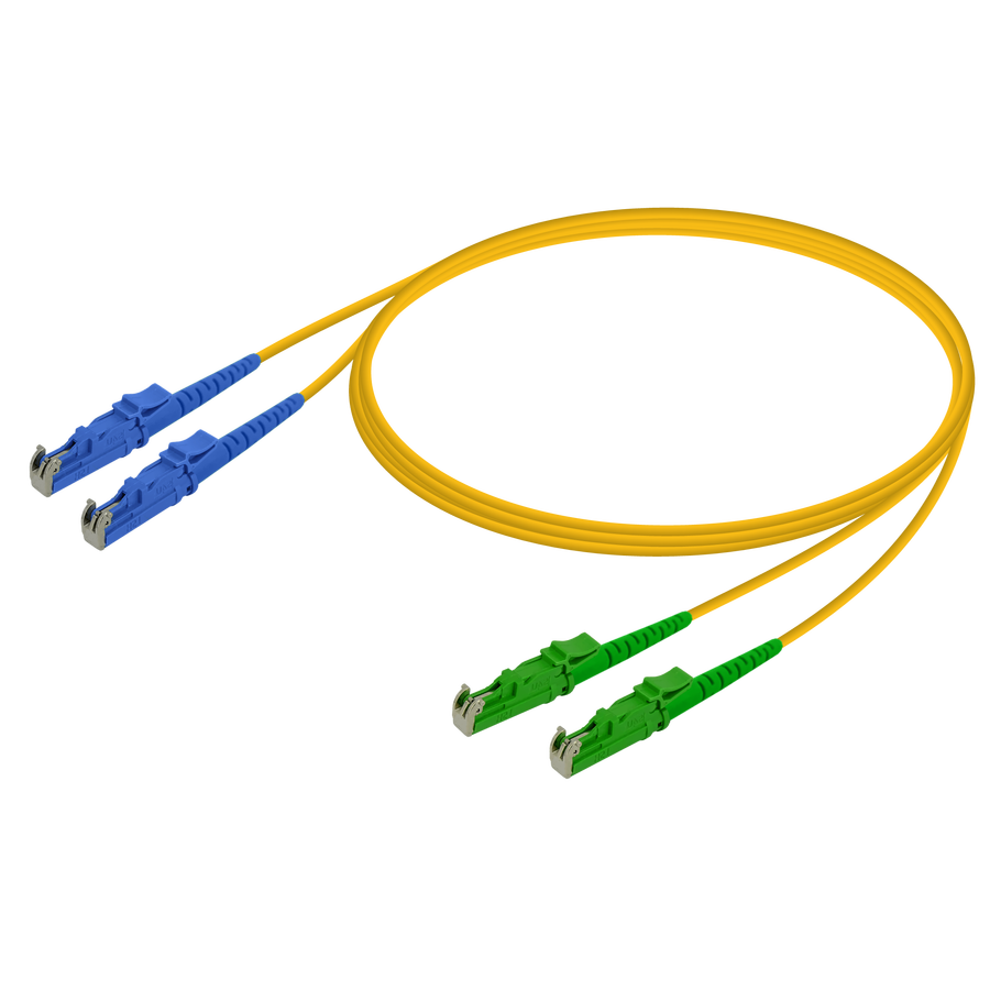Samm Teknoloji - LSH/UPC-LSH/APC | Single Mode G657.A2 Duplex Patch Cord | 2.0x4.1mm