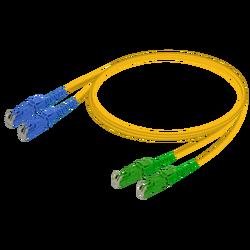 Samm Teknoloji - E2000/UPC-E2000/APC | Single Mode G657.A2 Duplex Patch Cord | 2.0x4.1mm