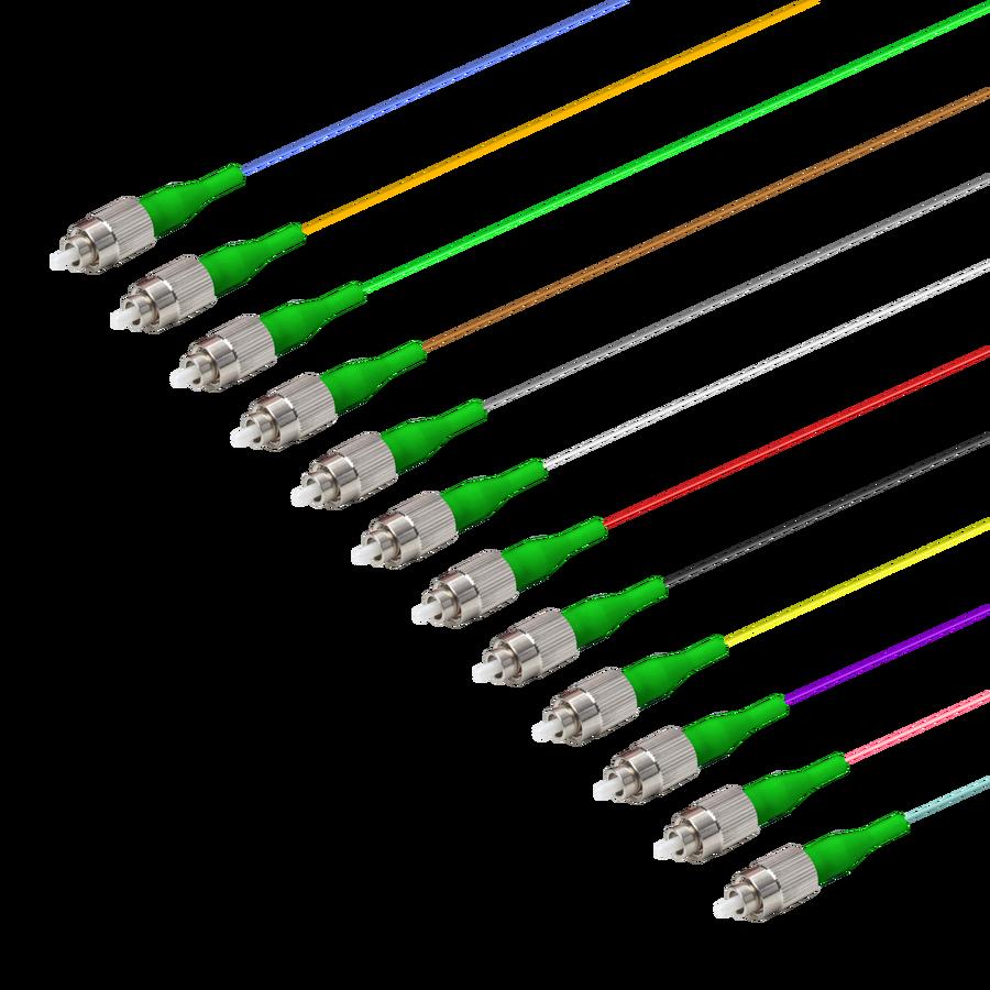 Samm Teknoloji - FC/APC 12 Fiber Pigtail | Single Mode G657.A2 | 0.9mm (1)
