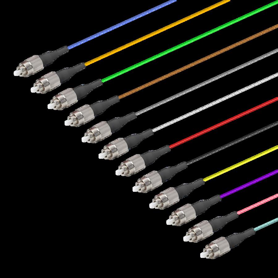 Samm Teknoloji - FC/UPC 12 Fiber Pigtail   Multi Mode G651.OM4   0.9mm (1)