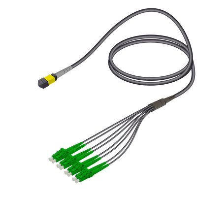 Samm Teknoloji - Female MTP Elite to LC/APC Universal Fanout | Base-8 | Single Mode G657.A2 | 4.8/1.8mm