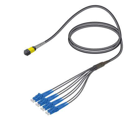Samm Teknoloji - Female MTP Elite to LC/UPC Universal Fanout | Base-8 | Single Mode G657.A2 | 4.8/1.8mm