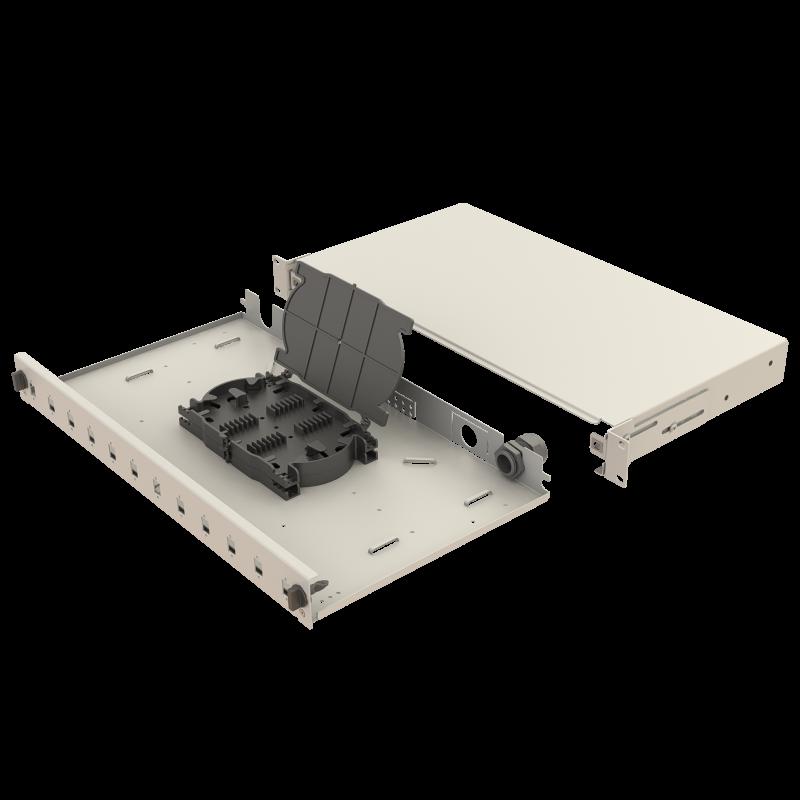 Samm Teknoloji - Mekanik Kızaklı   1U Fiber Patch Panel   12 Yuva   EFP11 (1)