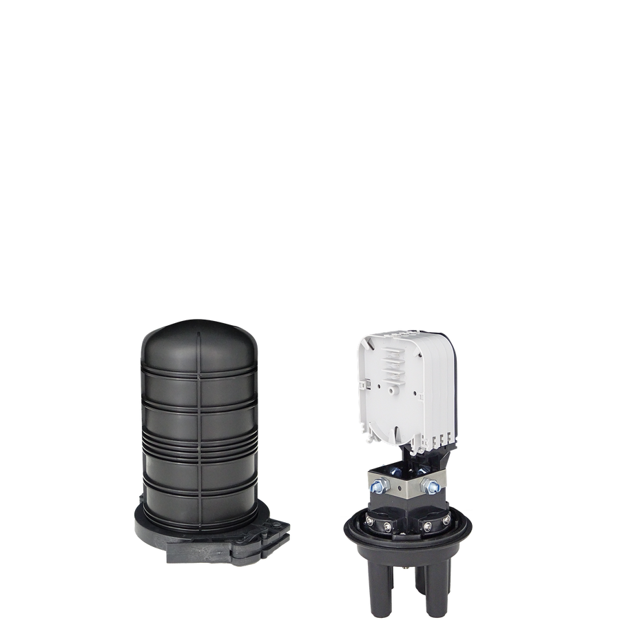 Samm Teknoloji - Fiber Optic Splice Closure | 4 Trays 48 Fibers 3 Ports | 290140