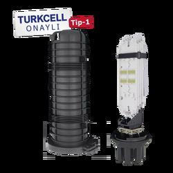 Samm Teknoloji - Fiber Optic Splice Closure | 4 Trays 96 Fibers 4 Ports | 540170