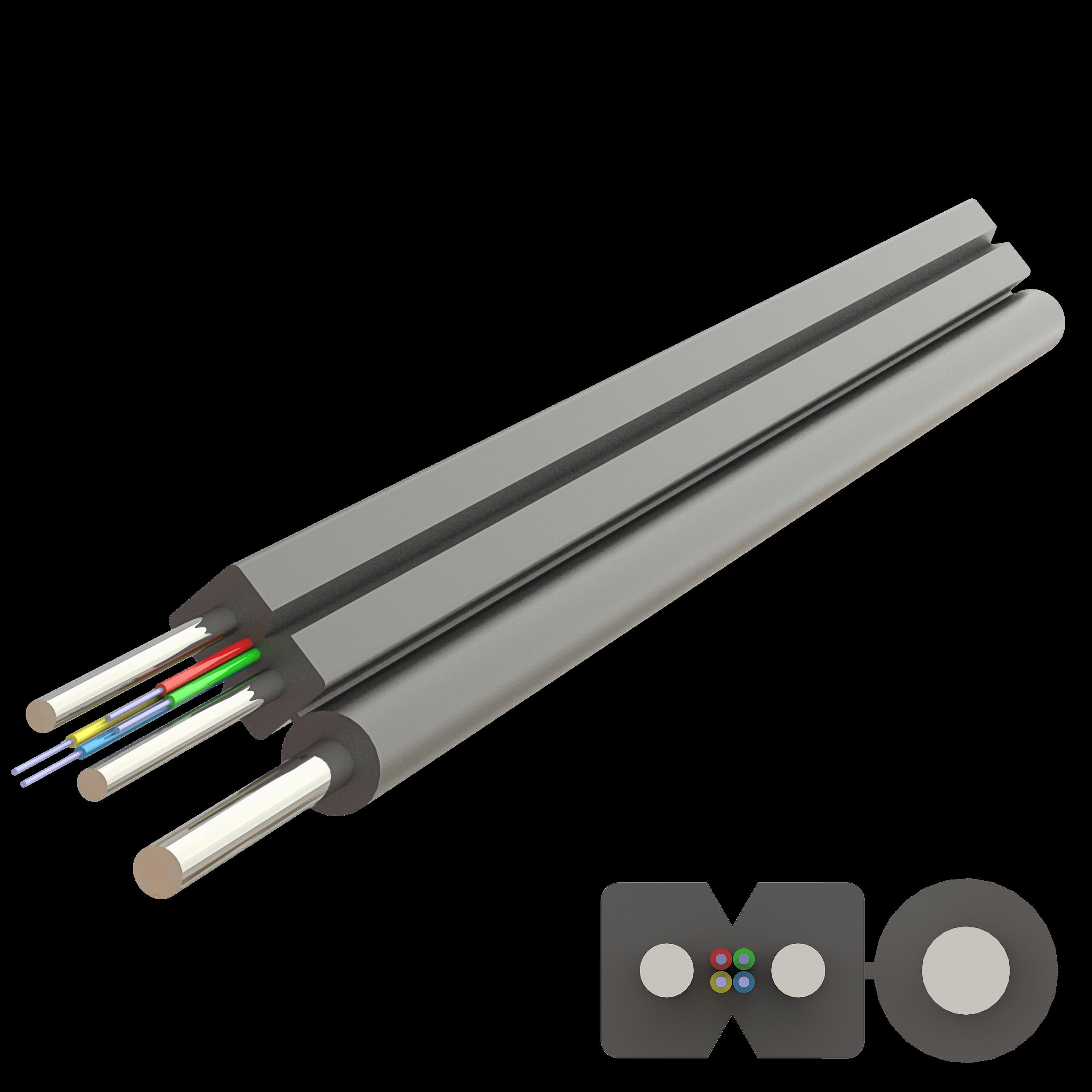 Samm Teknoloji - Flat Askı Telli Drop Çelik Kablo 2.0x5.2mm | A-N(ZM)H-SH | Up to 4F | 1000 metre