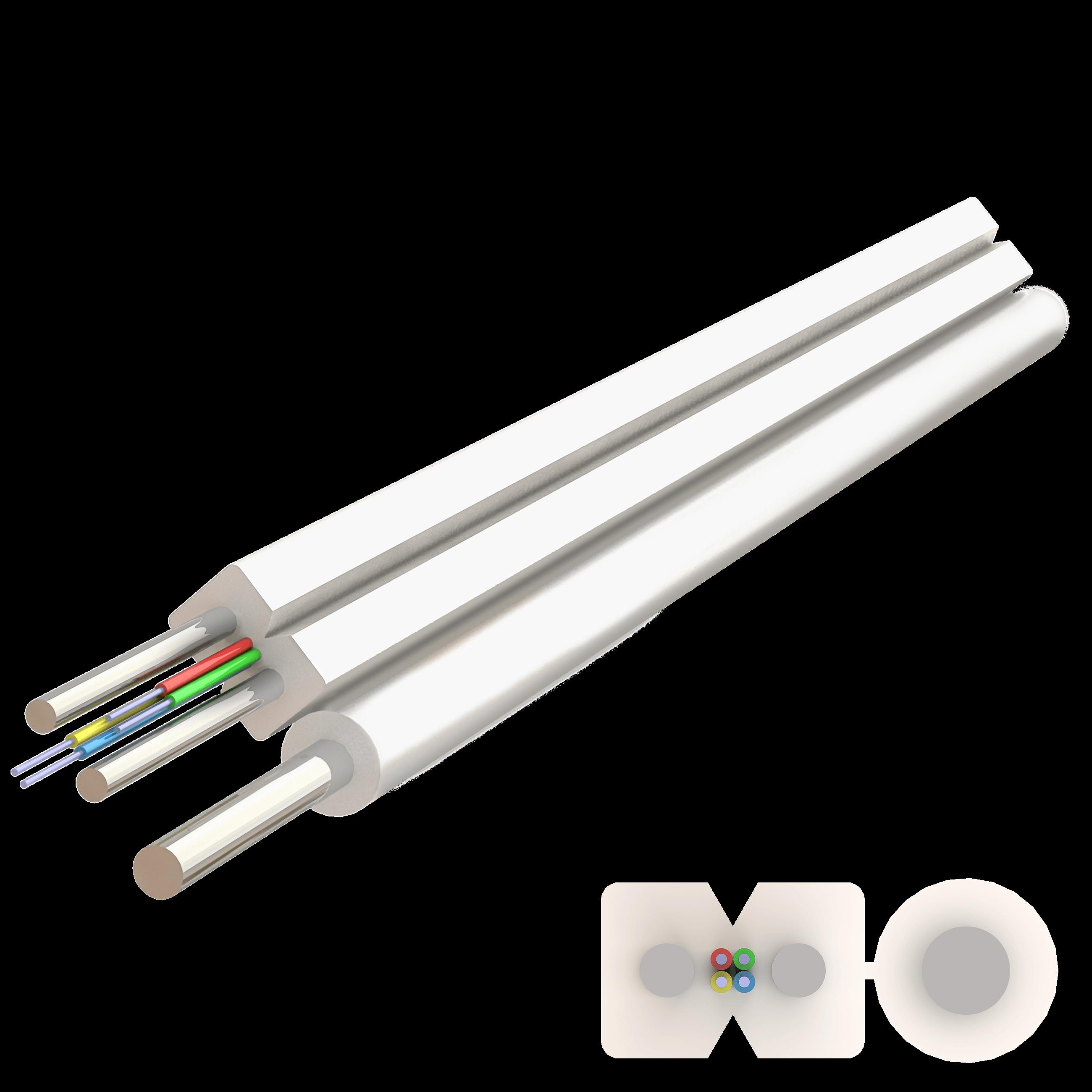 Samm Teknoloji - Flat Askı Telli Drop Çelik Kablo 2.0x5.2mm | A-N(ZM)H-SH | Up to 4F | 1000 metre (1)