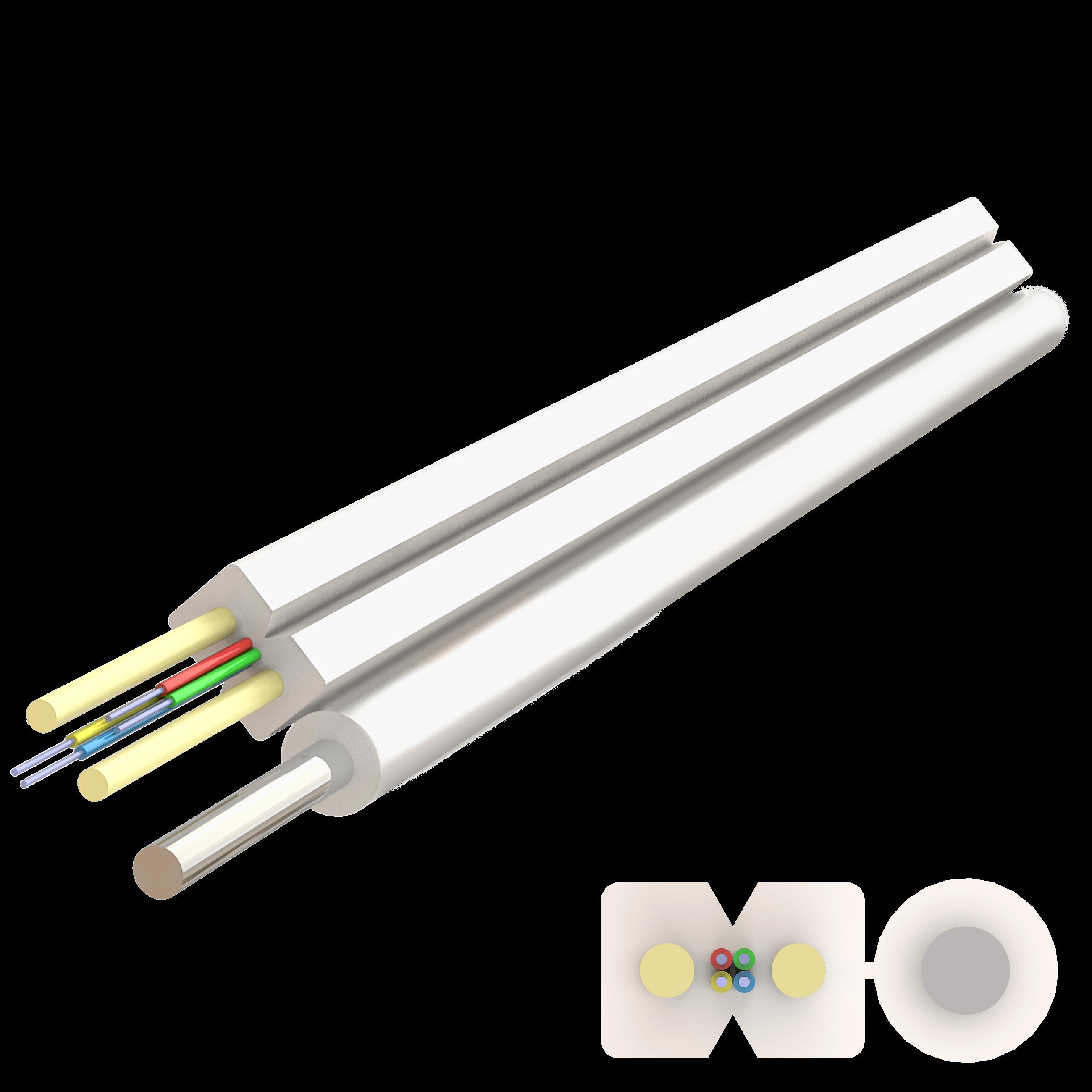 Samm Teknoloji - Flat Askı Telli Drop FRP Kablo 2.0x5.2mm | A-N(ZM)H-SH | Up to 4F | 1000 metre (1)