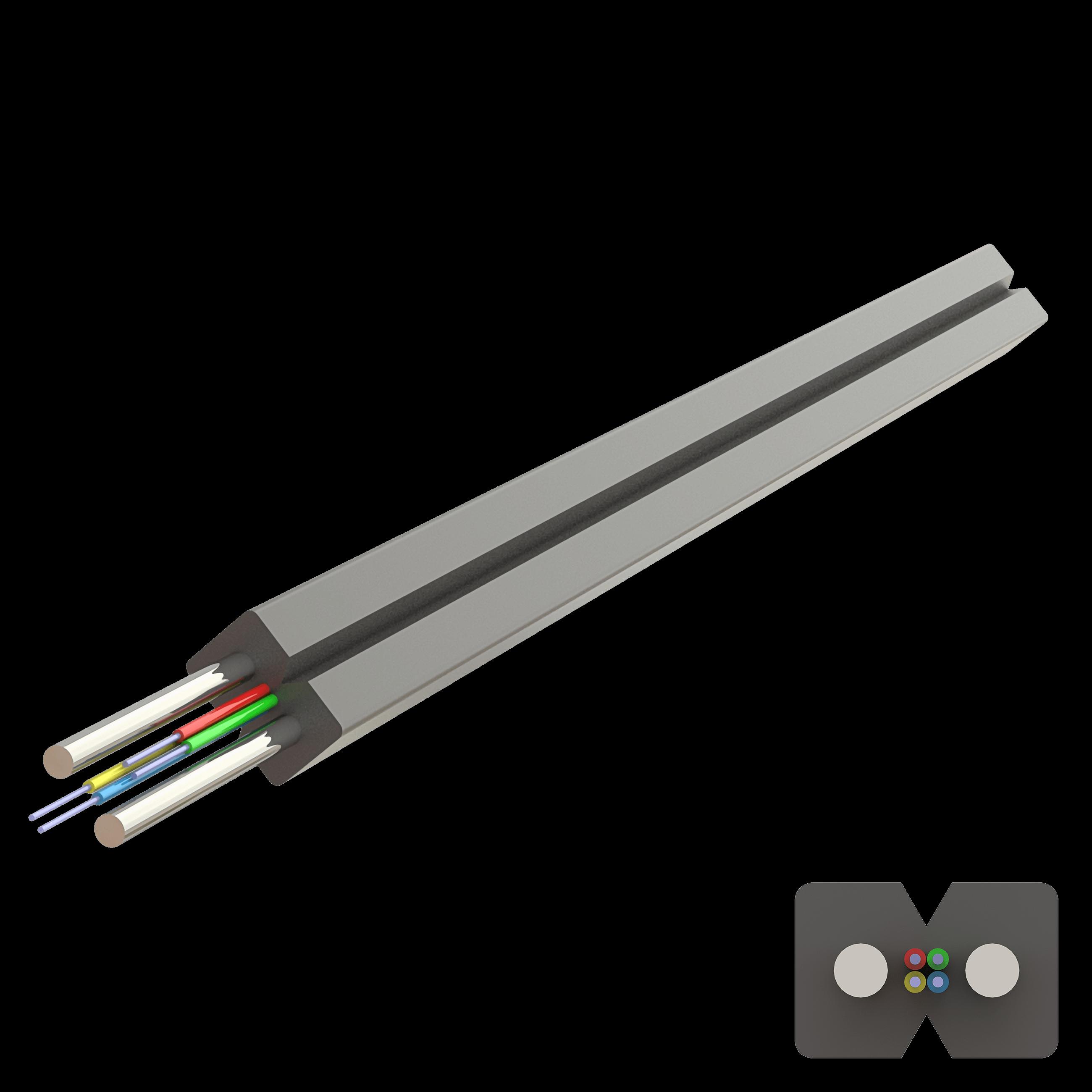 Samm Teknoloji - Flat Drop Çelik Kablo 2.0x3.0mm | U-N(ZM)H | Up to 4F | 1000 metre