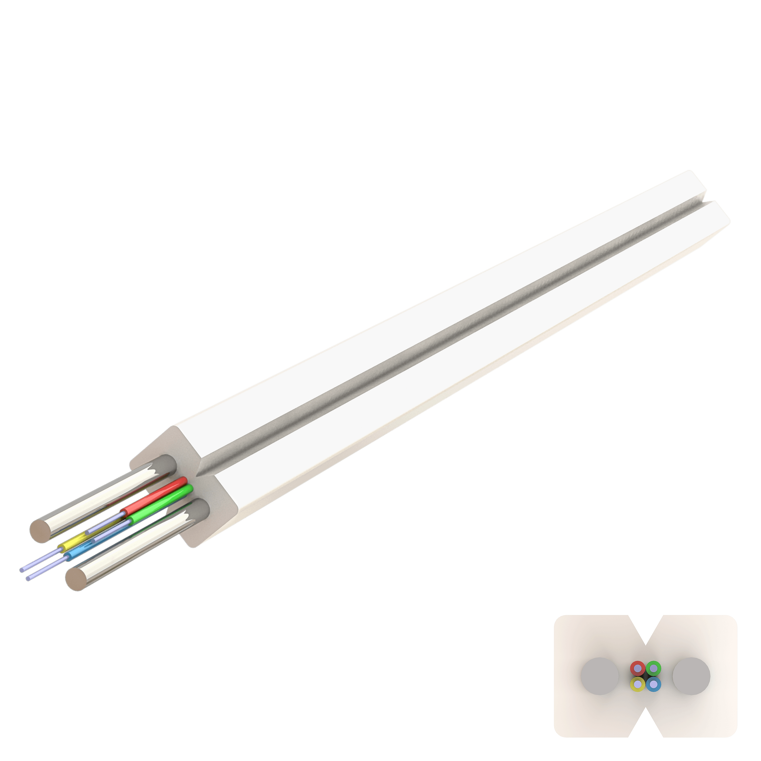 Samm Teknoloji - Flat Drop Çelik Kablo 2.0x3.0mm | U-N(ZM)H | Up to 4F | 1000 metre (1)