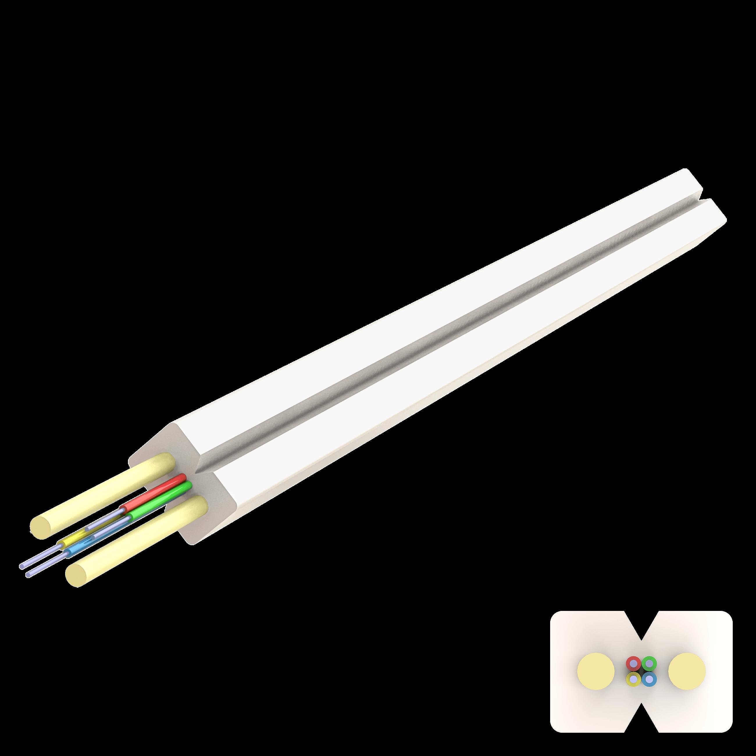 Samm Teknoloji - Flat Drop FRP Kablo 2.0x3.0mm | U-N(ZM)H | Up to 4F | 1000 metre (1)