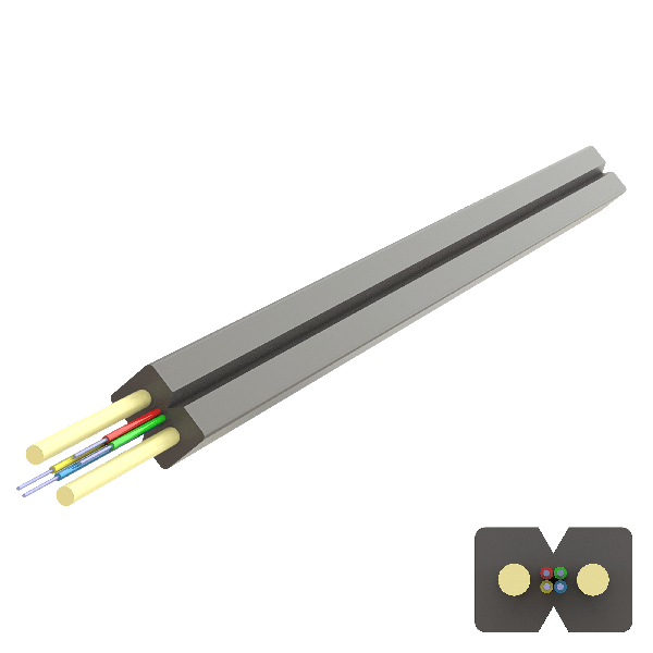 Samm Teknoloji - Flat FRP Drop Cable 2.0x3.0mm | U-N(ZM)H | Up to 4F | 1000 meters