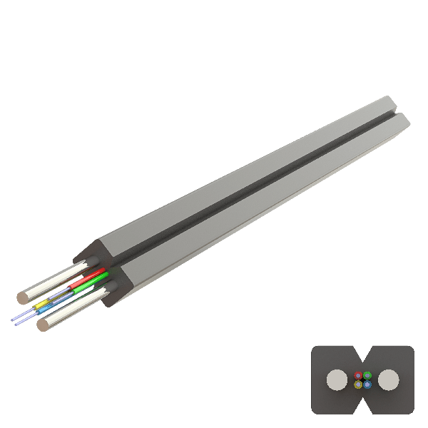 Samm Teknoloji - Flat Steel Drop Cable 2.0x3.0mm | U-N(ZM)H | Up to 4F | 1000 metre