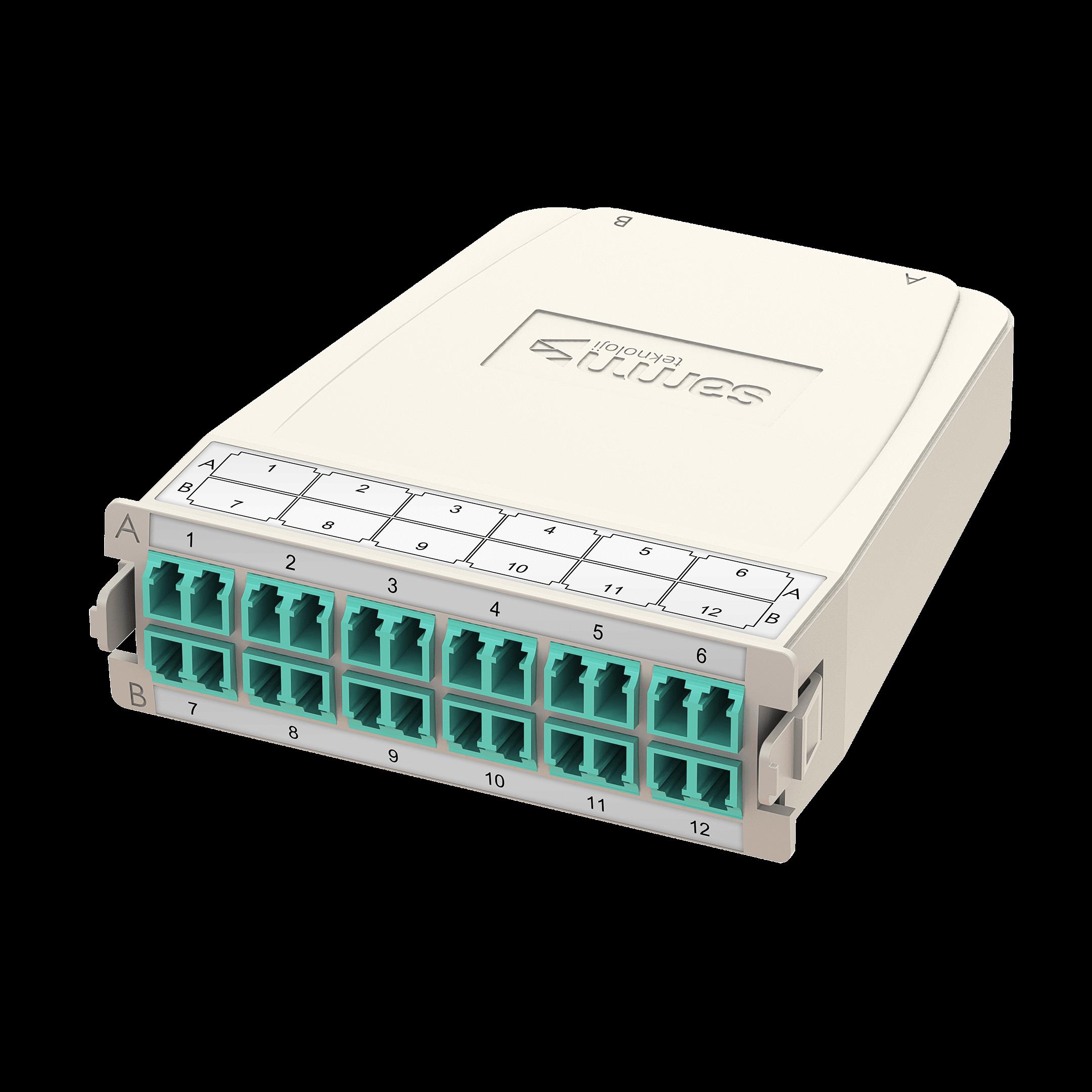 Samm Teknoloji - HD MTP-LC Dönüşüm Kaseti | OM3 | 1xBase-24