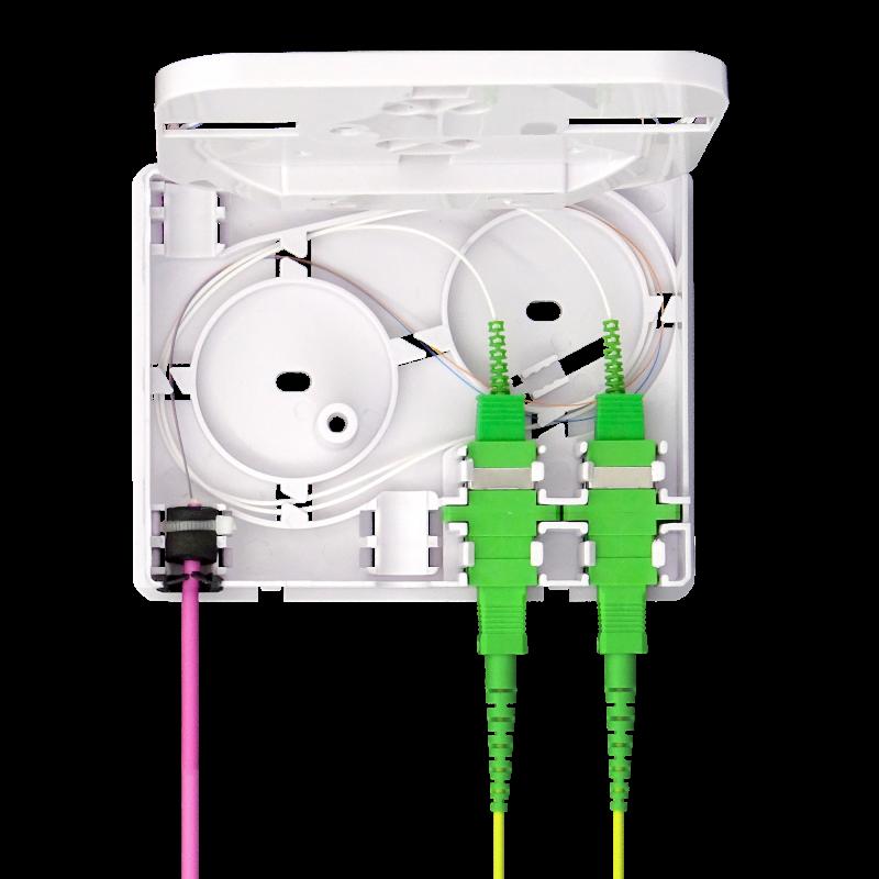 Samm Teknoloji - Indoor Termination Box   2 Patch 4 Fibers 2 Ports   Compact Design (1)