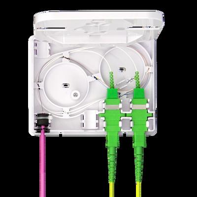 Samm Teknoloji - Indoor Termination Box | 2 Patch 4 Fibers 2 Ports | Compact Design (1)
