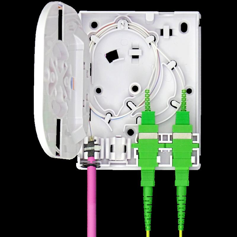 Samm Teknoloji - Indoor Termination Box   2 Patch 4 Fibers 2 Ports   Compact Vertical Design (1)