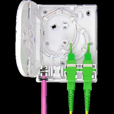 Samm Teknoloji - Indoor Termination Box | 2 Patch 4 Fibers 2 Ports | Compact Vertical Design (1)