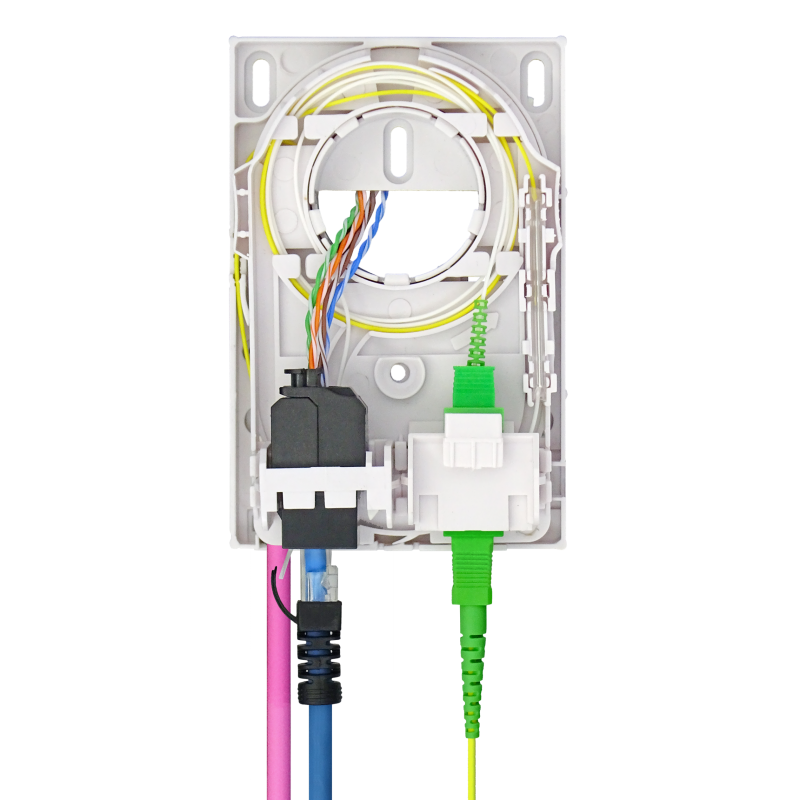 Samm Teknoloji - Indoor Termination Box   2 Patch Fiber+RJ45 Ports   Compact Design (1)