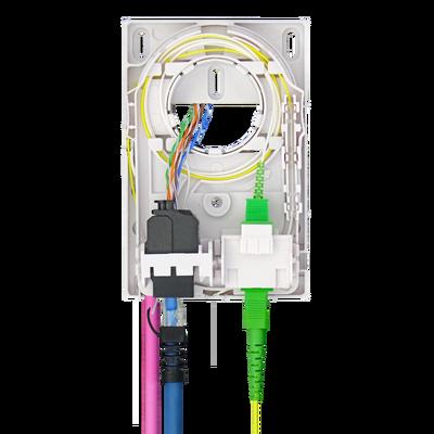 Samm Teknoloji - Indoor Termination Box | 2 Patch Fiber+RJ45 Ports | Compact Design (1)