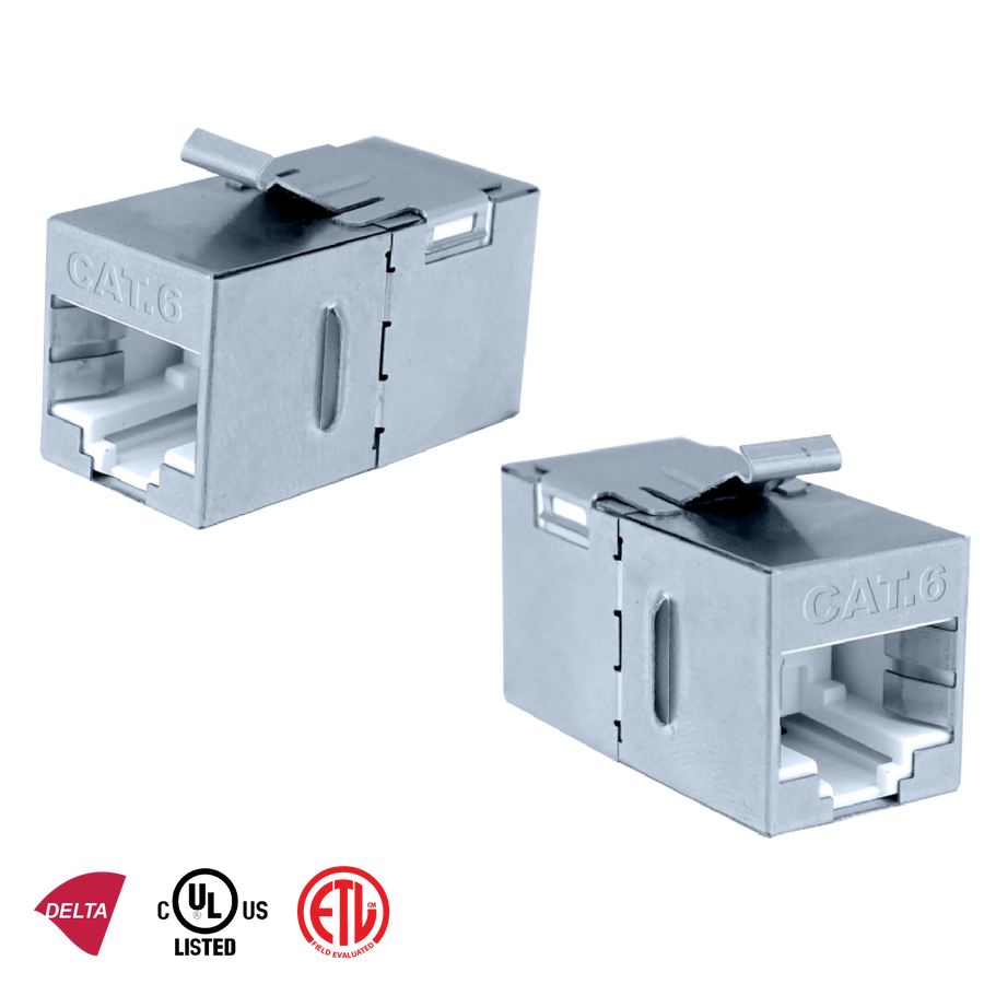 - Inline Coupler | Category 6 FTP 180°