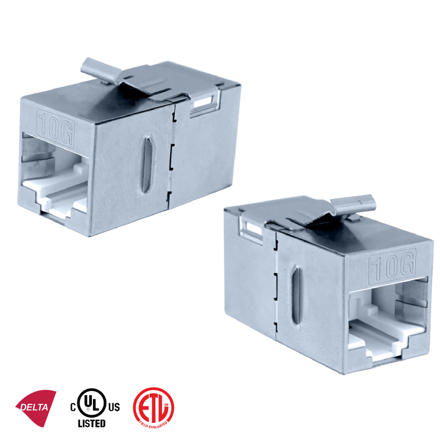 - Inline Coupler | Category 6A FTP 180°