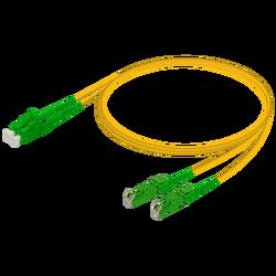 Samm Teknoloji - LC/APC-E2000/APC | Single Mode G657.A2 Duplex Patch Cord | 2.0x4.1mm