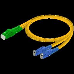Samm Teknoloji - LC/APC-E2000/UPC | Single Mode G657.A2 Duplex Patch Cord | 2.0x4.1mm