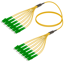 Samm Teknoloji - LC/APC-LC/APC | 12 Fiber Fanout | Single Mode G657.A2 | 3.0/1.8mm