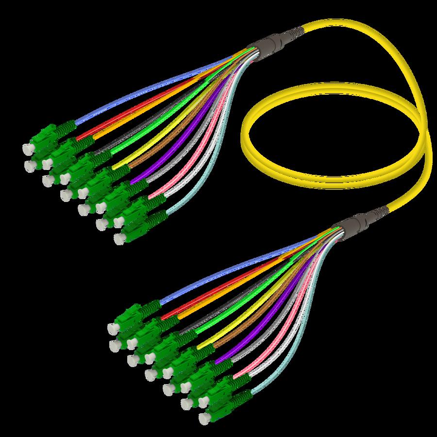 LC/APC-LC/APC | 12 Fibers Fanout | Single Mode G657.A2 | 3.0/0.9mm