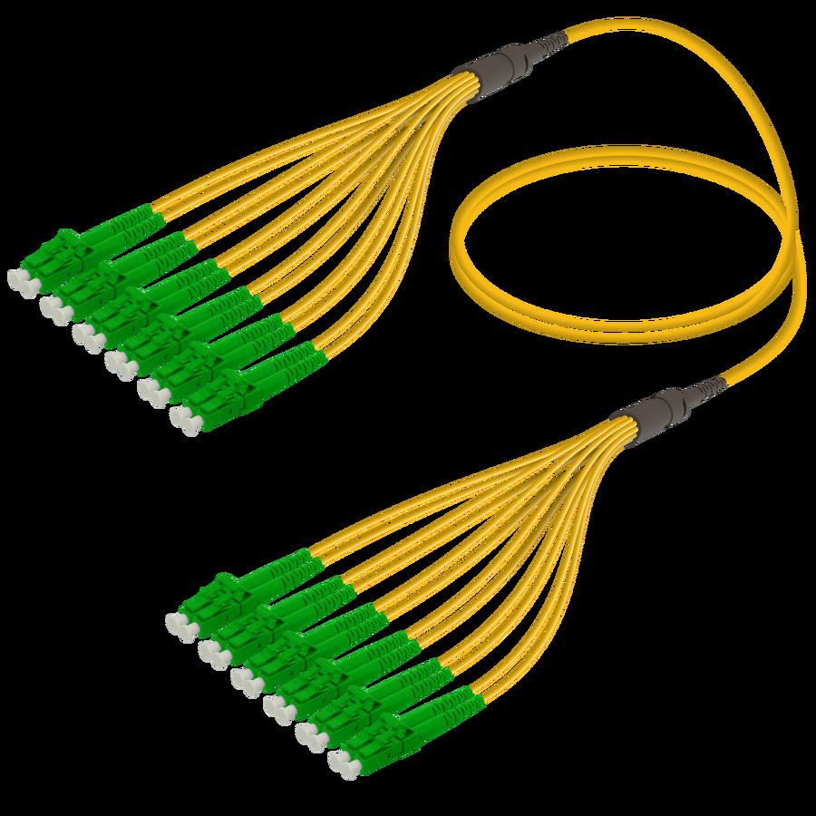 LC/APC-LC/APC | 12 Fibers Fanout | Single Mode G657.A2 | 3.0/1.8mm