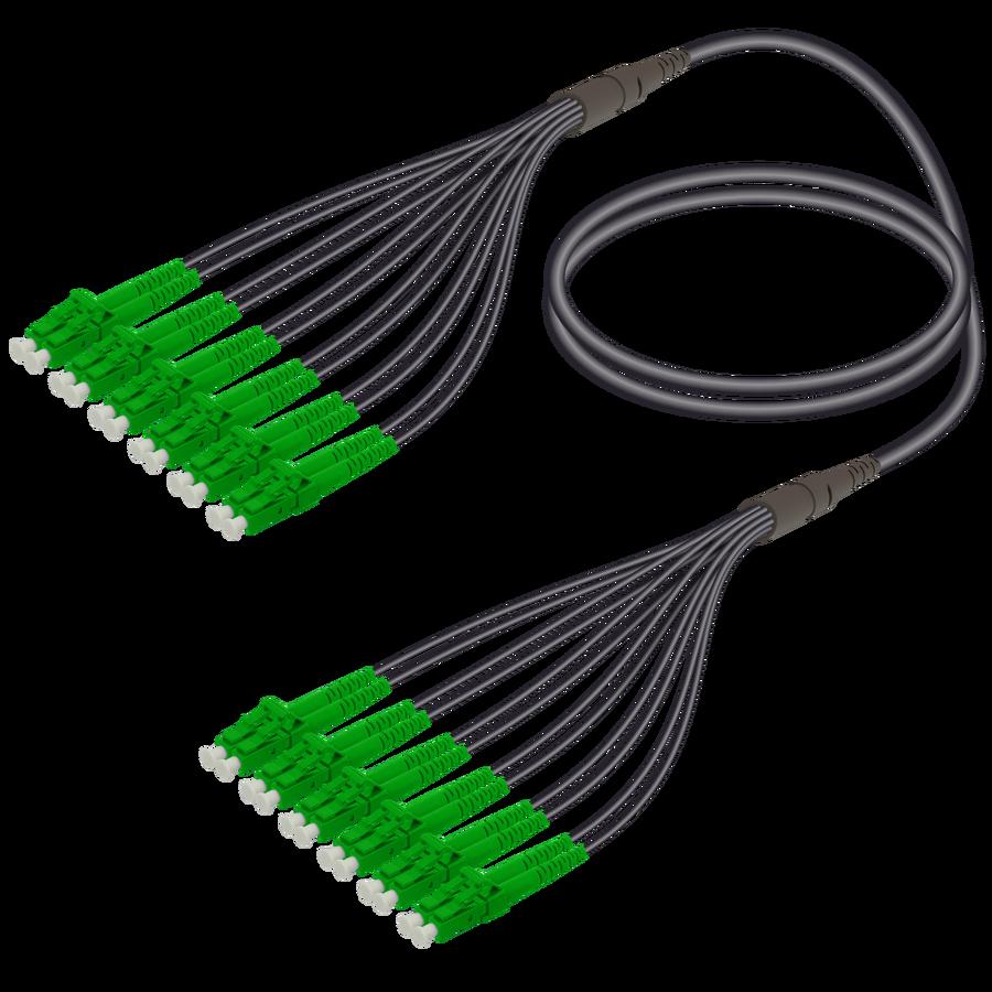 Samm Teknoloji - LC/APC-LC/APC | 12 Fibers Universal Fanout | Single Mode G657.A2 | 4.8/1.8mm