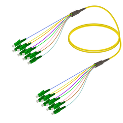 Samm Teknoloji - LC/APC-LC/APC | 8 Fiber Fanout | Single Mode G657.A2 | 3.0/0.9mm