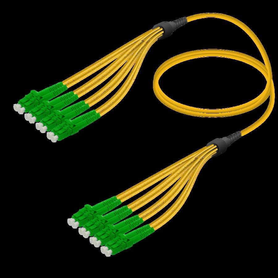Samm Teknoloji - LC/APC-LC/APC | 8 Fiber Fanout | Single Mode G657.A2 | 3.0/1.8mm