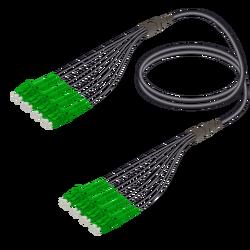 Samm Teknoloji - LC/APC-LC/APC | 8 Fiber Universal Fanout | Single Mode G657.A2 | 4.8/1.8mm