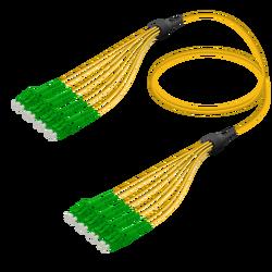 Samm Teknoloji - LC/APC-LC/APC | 8 Fibers Fanout | Single Mode G657.A2 | 3.0/1.8mm