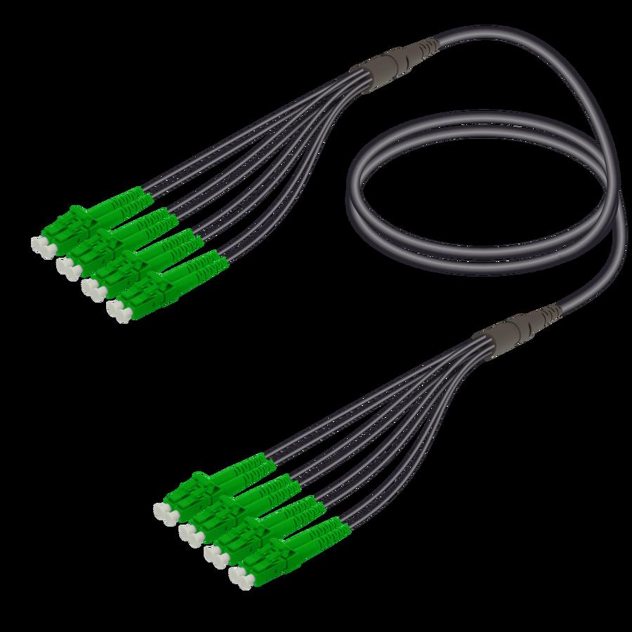 Samm Teknoloji - LC/APC-LC/APC | 8 Fibers Universal Fanout | Single Mode G657.A2 | 4.8/1.8mm