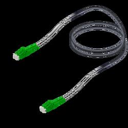 Samm Teknoloji - LC/APC-LC/APC | Single Mode G657.A2 Çelik Korugeli Breakout | 4.8x2.85mm